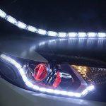 FEZZ Feux de jour LED Auto Clignotants Ampoule Diurne Écoulement 32LED Blanc Jaune DRL Bandes (Paquet de 2) de la marque FEZZ image 3 produit