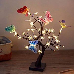 Finether LED Guirlande Lumineuse Arbre Branches Lumineux LED Lampe de Papillon 36 Fleurs des Lumières Lampe de Table Câble USB Décor Chambre Bureau Fête L'intérieur 45 cm de la marque Finether image 0 produit