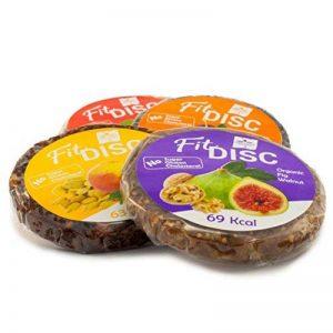 Fit DISC Snack de Fruit BIO (Coffret Cadeau 24x25g) Première qualité | Vegan | Sans gluten | Raw | Sans Lactose | Raw | Sans Soja | Paleo | Certifié | Pas de Sucre Ajouté | Non OGM | SO2 Gratuit | Fruit Séché & Noix Snacks | Snack santé par Avicenna BIO F image 0 produit