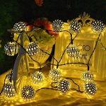 forepin Ficelle Solaire LED Cordes Fées Lumières Lampe Fil de cuivre Etanche Lumières Cordes Starry pour Le Mariage Noël Parti Décoration Maison Fêtes Blanc Chaud de la marque forepin image 3 produit