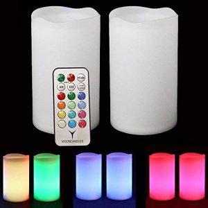 Frostfire Candlezest–2solaire Extérieure résistant aux intempéries à changement de couleur Bougies avec télécommande et minuteur de la marque Mooncandles image 0 produit