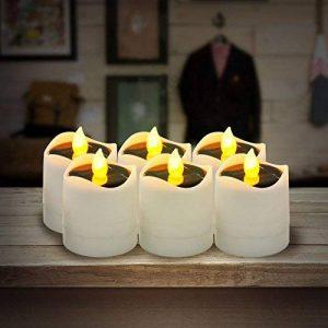 Funpa Bougie LED Solaire, 6Pcs Bougie Flamme LED Bougie Flamme Vacillante pour la fête de mariage du Festival Yard Garden Bar de la marque Funpa image 0 produit
