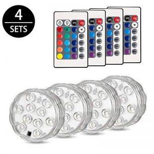 FURADO 10 RGB Multi Changement de couleur étanche LED pour vase, aquarium, bassin, Halloween, Noël, plastique de la marque Furado image 0 produit