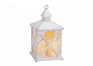 G. Wurm Lot de 3 lanternes en Plastique avec Bougie LED Blanc/Gris 19 x 36 x 19 cm de la marque G. Wurm image 0 produit