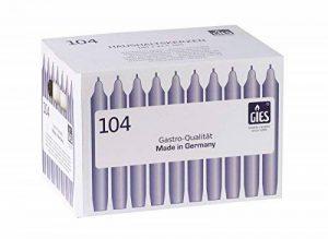 Gies 205-149001-33 Carton de 104 bougies chandelles Rouge 180 x 21,5 mm de la marque Gies image 0 produit
