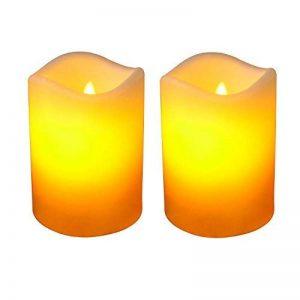 Giftgarden lot de 2 Lumières Bougies à LED eclairage avec minuteur,flamme vacillante comme candle réele,sans fumée dimmable,éteindre automatique de la marque Giftgarden image 0 produit