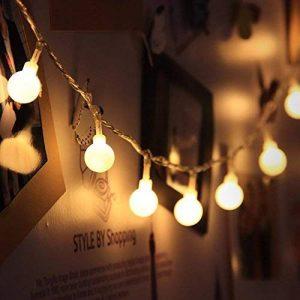 Gledto 4m LED Guirlande lumineuse à Piles Petits Boules Blanc chaud Décoration romantique pour Fête Noël Mariage Anniversaire Soirée Party Décor Chambre Maison Jardin Terrasse Pelouse de la marque Gledto image 0 produit