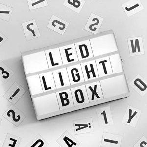 Global Gizmos miniature A63rangées LED cinématographique Boîte à lumière avec lettres, chiffres et symboles, carreaux, plastique, blanc de la marque Global Gizmos image 0 produit