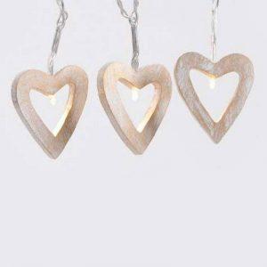 Générique - Soldes : guirlande lumineuse c½urs en bois led blanc chaud de la marque Izaneo image 0 produit