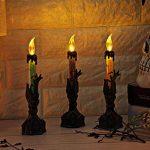 GongzhuMM Décoration Halloween Accessoire 1Pcs Lumière de Bougie Halloween avec LED Bougies Chauffe-Plat pour La Décoration de L'Halloween 6.5x21.5cm de la marque Halloween GongzhuMM image 2 produit