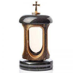 Grande lanterne Porte-bougie funéraire en granit Tribute funéraires cimetière Décoration de la marque IK Style image 0 produit