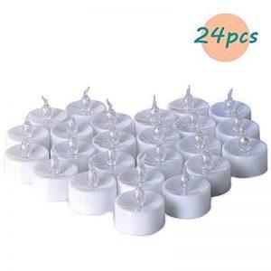 Greatever Lumières de Fête,Lot de 24pcs Bougies LED,petite bougie à thé électrique Falsique,flamme vacillante comme candle réele [Clase de eficiencia energética A++] (Lumière chaude) de la marque Greatever image 0 produit