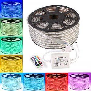 GreenSun 20M Ruban LED Lumineuse Etanche RGB Multicolore SMD 5050 LED avec Changement de Couleur Flexible Bande éclairage 720W Bluetooth télécommande 24 Touches de la marque Neverland image 0 produit