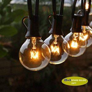 Guirlande Guinguette Extérieur Raccordable avec 25 G40 ampoule Blanc Chaud de la marque GiveU image 0 produit