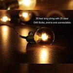 Guirlande Guinguette Extérieur Raccordable avec 25 G40 ampoule Blanc Chaud de la marque GiveU image 1 produit