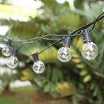 Guirlande Guinguette Extérieur,Tomshine 25 ampoules avec 2 ampoules rechange,7.62 Mètres/ 25FT , étanche IP44, E12 Base,Raccordable au maximum 2 Brins( Blanc Chaud) de la marque Tomshine image 3 produit