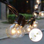 Guirlande Guinguette Extérieur,Tomshine 25 ampoules avec 2 ampoules rechange,7.62 Mètres/ 25FT , étanche IP44, E12 Base,Raccordable au maximum 2 Brins( Blanc Chaud) de la marque Tomshine image 2 produit