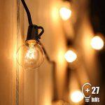 Guirlande Guinguette Extérieur,Tomshine 25 ampoules avec 2 ampoules rechange,7.62 Mètres/ 25FT , étanche IP44, E12 Base,Raccordable au maximum 2 Brins( Blanc Chaud) de la marque Tomshine image 0 produit