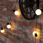 Guirlande Guinguette Lumineuse Décorative 20 Ampoules Opaques LED Éclairage Blanc Chaud - Intérieur/Extérieur Waterproof 4,75m de la marque Festive Lights image 1 produit