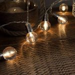 Guirlande Lumineuse 10 Mini Ampoules Rondes Transparentes à LED 1,50 Mètre Minuteur à Piles de la marque Festive Lights image 2 produit