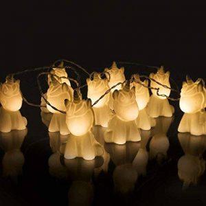Guirlande Lumineuse 10 Mini Licornes Blanches à LED Éclairage Blanc Chaud 2 Mètres à Piles de la marque Fizz Creations image 0 produit