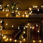 Guirlande Lumineuse 10M 80 Ampoules - Guirlande lumineuse LED à Piles Petites Boules Blanc Chaud Décoration Romantique pour Fête Noël Mariage Anniversaire Soirée Party Décor Chambre Maison Jardin Terrasse Pelouse de la marque Boomile image 1 produit