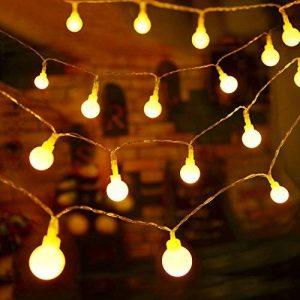 Guirlande Lumineuse 10M 80 Ampoules - Guirlande lumineuse LED à Piles Petites Boules Blanc Chaud Décoration Romantique pour Fête Noël Mariage Anniversaire Soirée Party Décor Chambre Maison Jardin Terrasse Pelouse de la marque Boomile image 0 produit