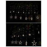 Guirlande Lumineuse 138 LED 12 Etoiles 1 * 2M 8 Modes Rideau de Lumière en Forme Etoiles Eclairage pour Décoration de Chambre Jardin Mariage Anniversaire (Blanc Chaud) de la marque O'BLACK image 1 produit