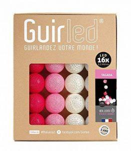 Guirlande lumineuse boules coton LED USB - Chargeur double USB 2A inclus - 3 intensités - 16 boules - Tagada de la marque GuirLED image 0 produit