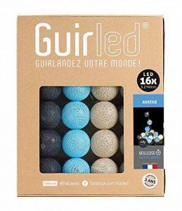 Guirlande lumineuse boules coton LED USB - Chargeur double USB 2A inclus - 3 intensités - 16 boules - Avatar de la marque GuirLED image 0 produit
