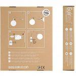 Guirlande lumineuse boules coton LED USB - Chargeur double USB 2A inclus - 3 intensités - 24 boules - Purple de la marque GuirLED image 1 produit
