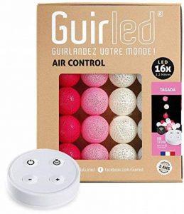 Guirlande lumineuse boules coton LED USB - Télécommande sans fil - Chargeur double USB 2A inclus - 4 intensités - 16 boules - Tagada de la marque GuirLED image 0 produit