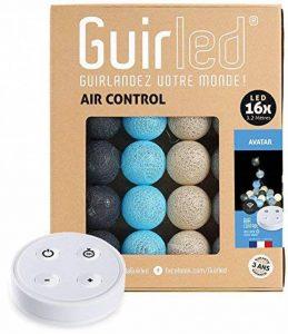 Guirlande lumineuse boules coton LED USB - Télécommande sans fil - Chargeur double USB 2A inclus - 4 intensités - 16 boules - Avatar de la marque GuirLED image 0 produit