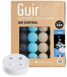 Guirlande lumineuse boules coton LED USB - Télécommande sans fil - Chargeur double USB 2A inclus - 4 intensités - 24 boules - Avatar de la marque GuirLED image 0 produit