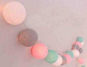 """Guirlande lumineuse""""Chambre pour enfants"""" avec 20boules en coton, pour intérieur de la marque Illuminate Your Home image 0 produit"""