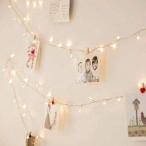 Guirlande Lumineuse d'Intérieur avec 100 LED Blanc Chaud sur Câble Transparent 8m Lights4fun de la marque Lights4fun image 0 produit