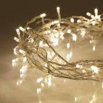 Guirlande Lumineuse d'Intérieur avec 100 LED Blanc Chaud sur Câble Transparent 8m Lights4fun de la marque Lights4fun image 1 produit