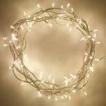 Guirlande Lumineuse d'Intérieur avec 100 LED Blanc Chaud sur Câble Transparent 8m Lights4fun de la marque Lights4fun image 2 produit