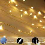 Guirlande lumineuse, de mycozylite®, blanc chaud, 100LED(10m), ligne électrique 5m, Décoration pour intérieur et extérieur, Trasformatore a bassa tensione 31V, Extensible de la marque myCozyLite image 3 produit