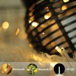 Guirlande lumineuse, de mycozylite®, blanc chaud, 100LED(10m), ligne électrique 5m, Décoration pour intérieur et extérieur, Trasformatore a bassa tensione 31V, Extensible de la marque myCozyLite image 1 produit