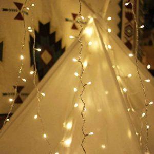 Guirlande lumineuse, de mycozylite®, blanc chaud, 100LED(10m), ligne électrique 5m, Décoration pour intérieur et extérieur, Trasformatore a bassa tensione 31V, Extensible de la marque myCozyLite image 0 produit