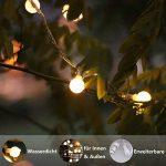 Guirlande lumineuse, de mycozylite®, Boule, blanc chaud, 100LED(10m), ligne électrique 5m, Décoration pour intérieur et extérieur, Trasformatore a bassa tensione 31V, Extensible de la marque myCozyLite image 3 produit