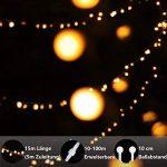 Guirlande lumineuse, de mycozylite®, Boule, blanc chaud, 100LED(10m), ligne électrique 5m, Décoration pour intérieur et extérieur, Trasformatore a bassa tensione 31V, Extensible de la marque myCozyLite image 2 produit