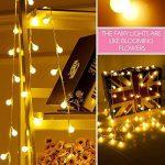 Guirlande Lumineuse Exterieure Guirlande Guinguette - 10M 80 Ampoules Guirlande Lumineuse LED à Piles Petites Boules Blanc Chaud Décoration Romantique pour Fête Noël Mariage Anniversaire Soirée Party de la marque Sunnest image 2 produit