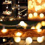 Guirlande Lumineuse Exterieure Guirlande Guinguette - 10M 80 Ampoules Guirlande Lumineuse LED à Piles Petites Boules Blanc Chaud Décoration Romantique pour Fête Noël Mariage Anniversaire Soirée Party de la marque Sunnest image 4 produit