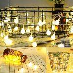 Guirlande Lumineuse Exterieure Guirlande Guinguette - 10M 80 Ampoules Guirlande Lumineuse LED à Piles Petites Boules Blanc Chaud Décoration Romantique pour Fête Noël Mariage Anniversaire Soirée Party de la marque Sunnest image 3 produit