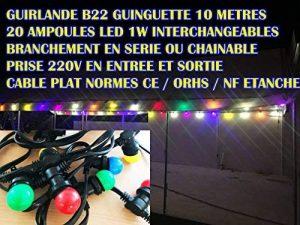 Guirlande Lumineuse extérieure 10m + 20 ampoules LED B22 couleurs chainable. de la marque Revenergie image 0 produit