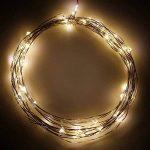 Guirlande Lumineuse Fil Cuivre LED Etanche a Pile Interieur et Exterieur Éclairage Doré 60 LED 6 Mètres avec 8 Modes Boitier de Batterie Décoration de Noël Mariage Anniversaire de Enuotek de la marque ENUOTEK image 2 produit