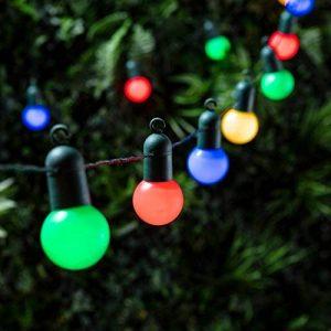 Guirlande Lumineuse Guinguette 20 Boules LED Multicolores pour Intérieur/Extérieur Lights4fun de la marque Lights4fun image 0 produit