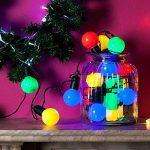 Guirlande Lumineuse Guinguette 20 Boules LED Multicolores pour Intérieur/Extérieur Lights4fun de la marque Lights4fun image 3 produit